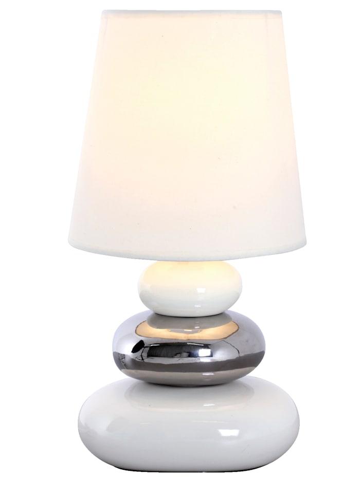 Näve Bordslampa med rundade former, Vit
