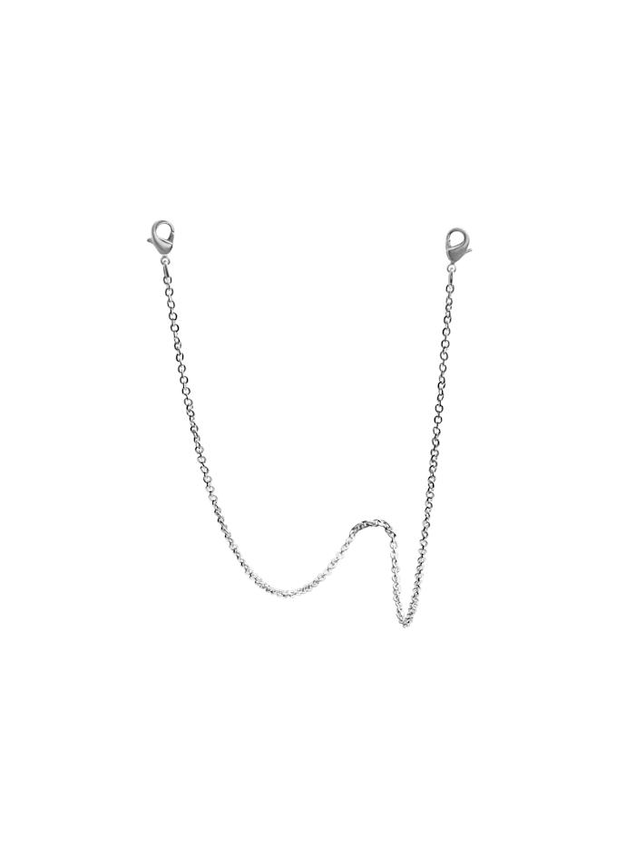 ZEEme Brillenkette Maskenkette 925/- Sterling Silber 70cm Diamantiert, weiß