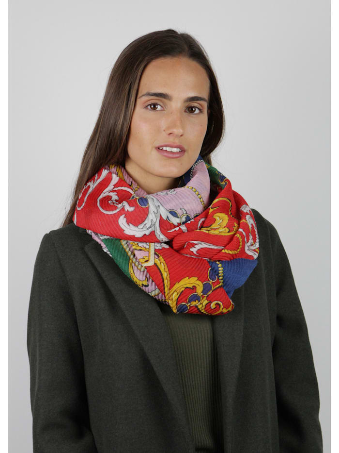 Plissee-Schal aus recyceltem Polyester