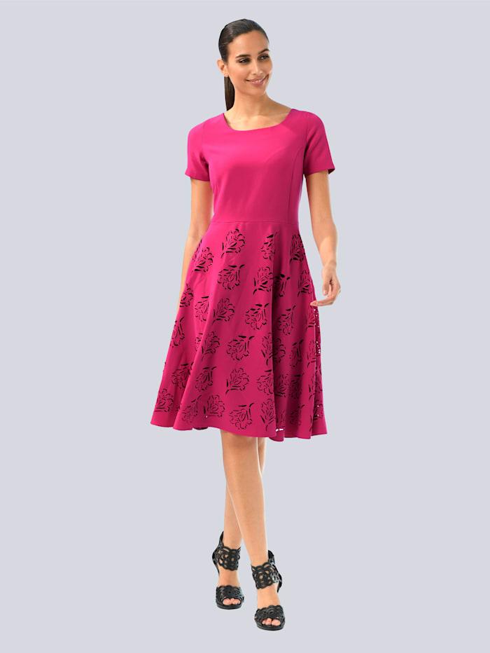 Alba Moda Jurk met trendy cut-outs, Pink