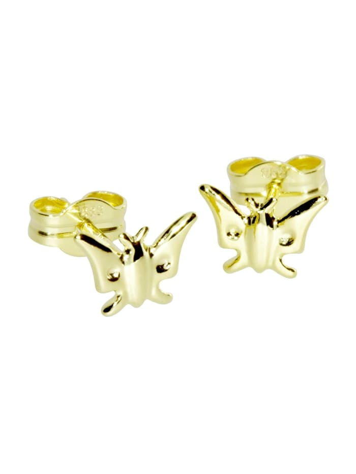 OSTSEE-SCHMUCK Ohrstecker - Schmetterling - Gold 333/000 - ,, gold