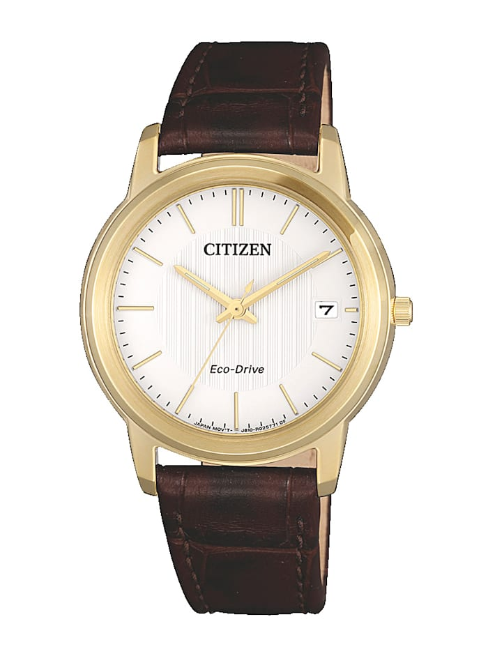 Citizen Damenuhr,  Eco-Drive FE6012-11A, Braun