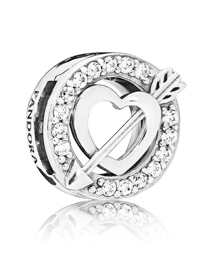 Pandora Clip-Charm - Herz mit Pfeil - Pandora Reflexions - 797793CZ, Silberfarben