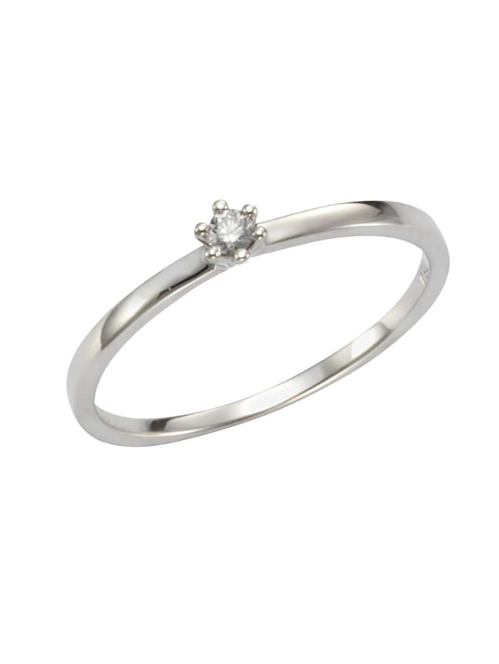 Orolino Ring 585/- Gold Brillant weiß Brillant Glänzend 0,05ct. 585/- Gold, weiß