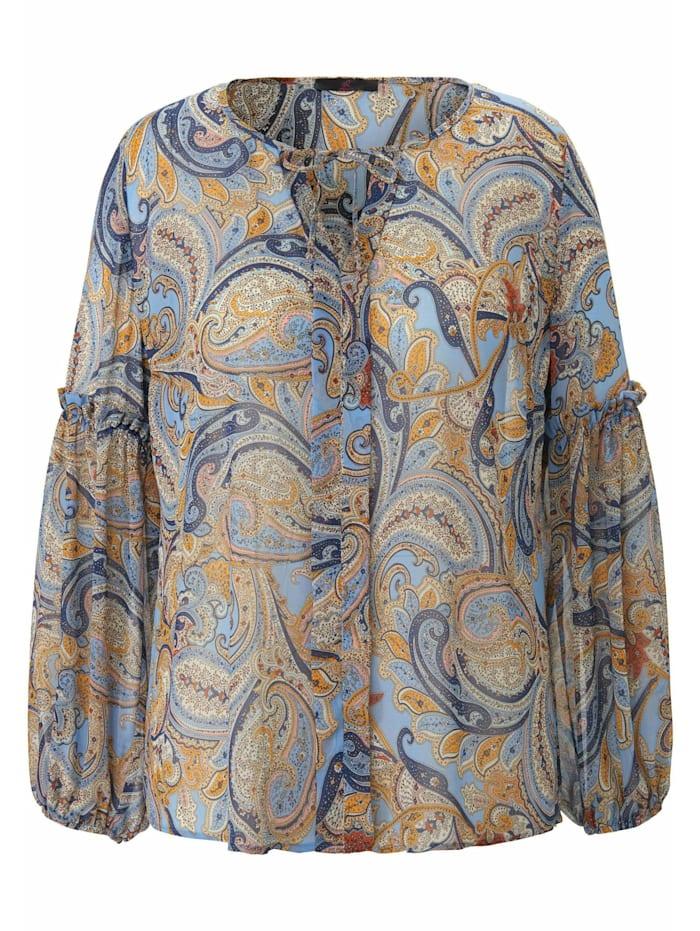 Emilia Lay Langarmbluse Bluse, blau/multicolor