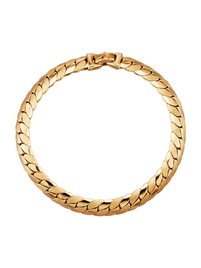 Amara Gold Panzerarmband in Gelbgold 585, Gelbgoldfarben