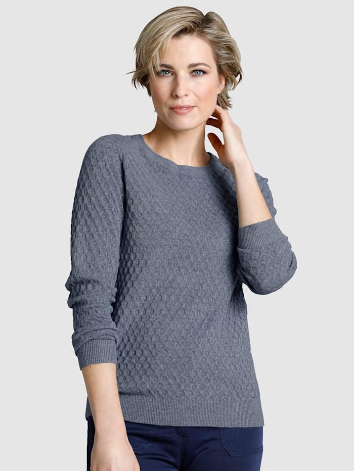 Dress In Pullover mit strukturierter Warenobfläche, Blau