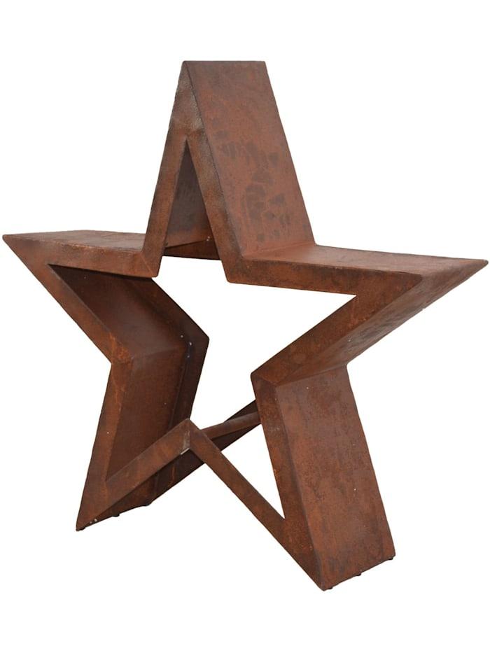 Möbel-Direkt-Online Metalldekoration Stern, braun