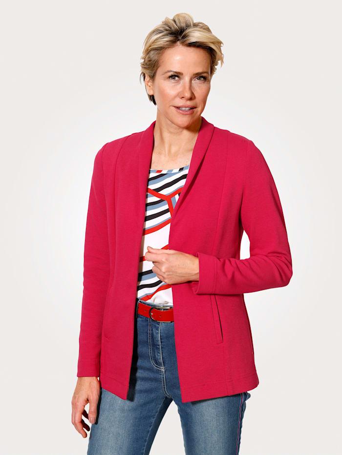 MONA Veste en jersey en jersey délicatement structuré, Rouge