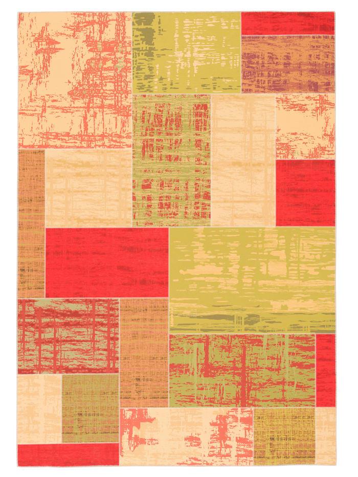 Pergamon Luxus Vintage Designer Teppich Primus Patchwork, Orange