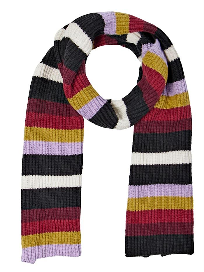 Schal mit Multicolor-Ringeln