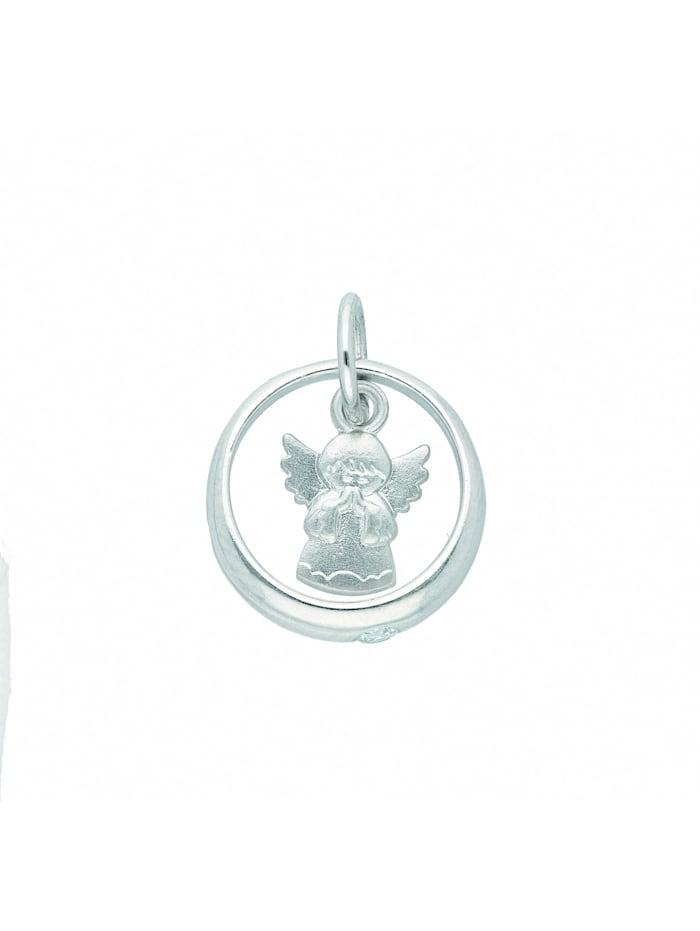 1001 Diamonds 1001 Diamonds Damen Silberschmuck 925 Silber Anhänger Taufring mit Zirkonia Ø 11,3 mm, silber