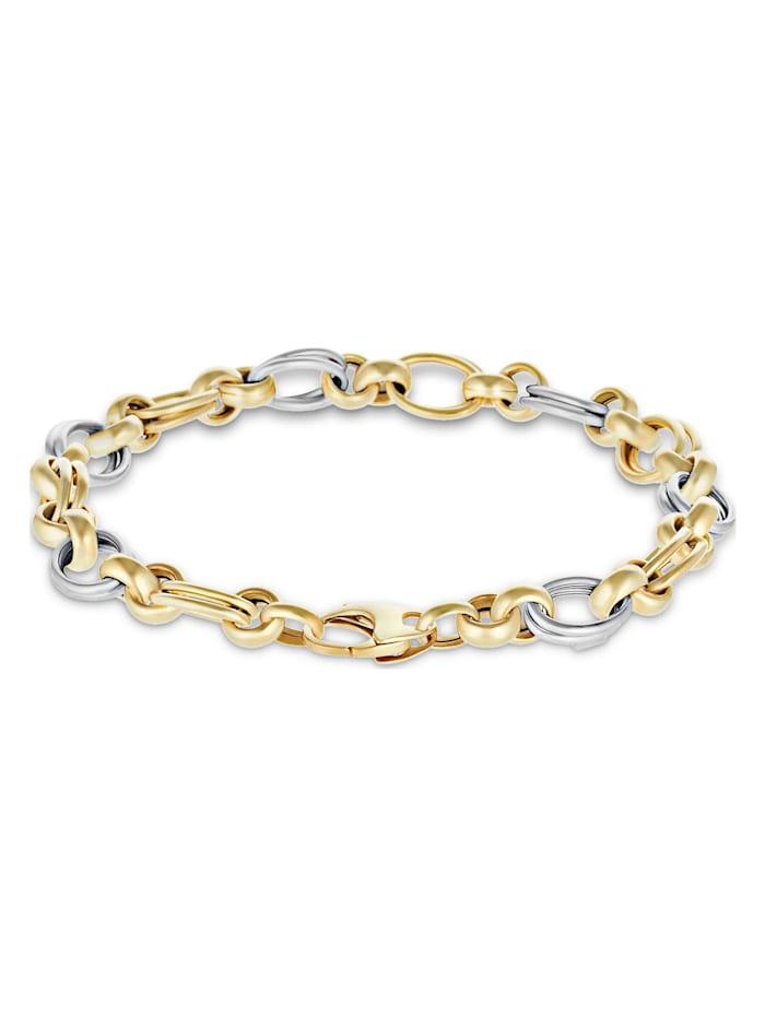 CHRIST GOLD CHRIST Gold Damen-Armband 375er Gelbgold, bicolor/gold/silber