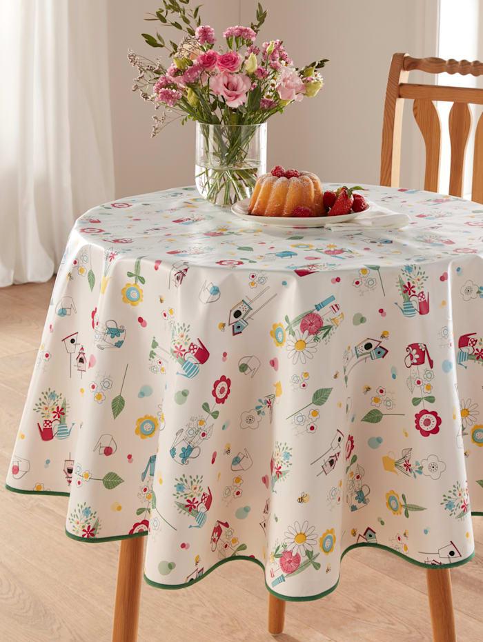 """Peyer-Syntex Linge de table en toile cirée """"Tamika"""", Blanc/Multicolore"""