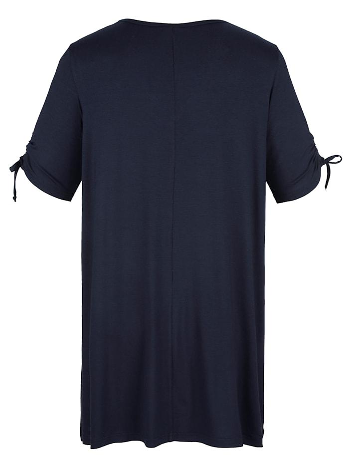 T-shirt long à encolure en V allongeante