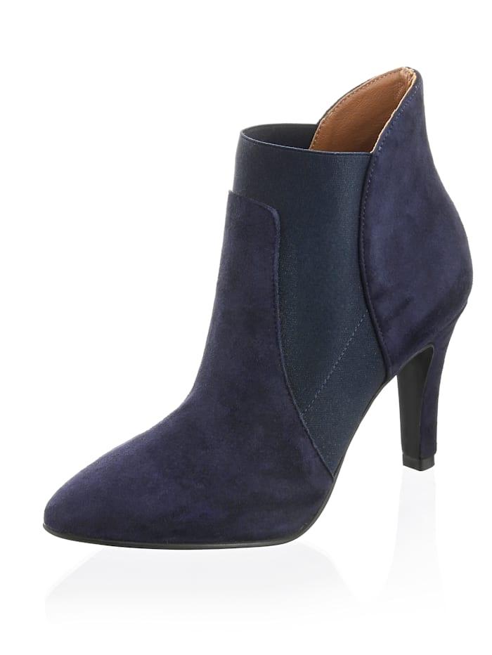 Alba Moda Stiefelette aus Veloursleder, Marineblau