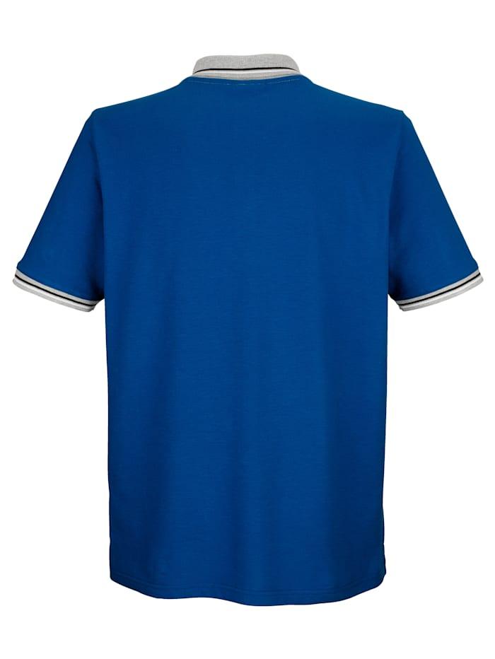 Poloshirt mit Kontrastdruck an der Brust