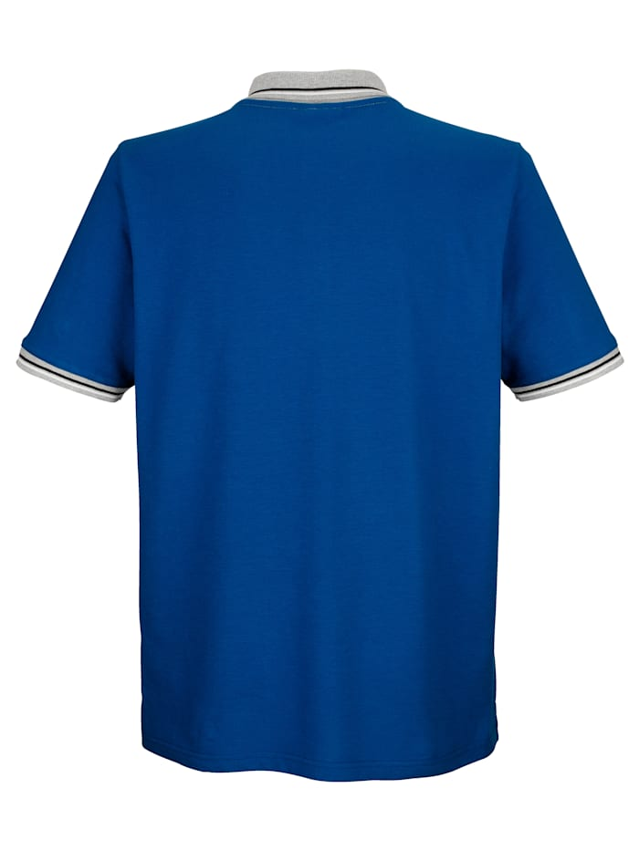 Poloshirt met contrasterende print op de borst