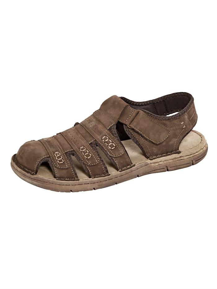 Sandales en cuir nubuck souple