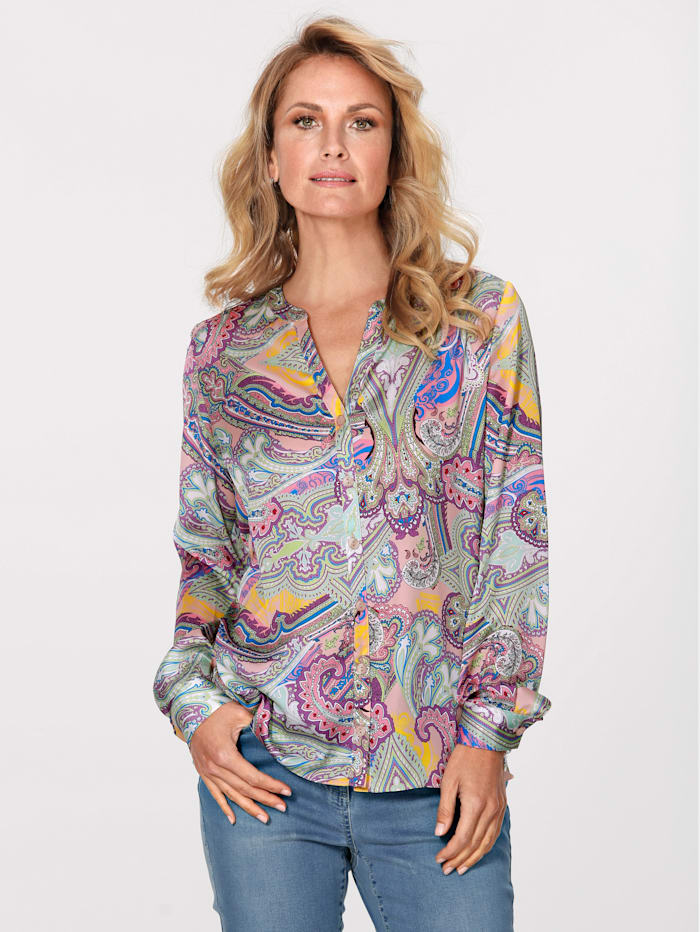 MONA Blouse met paisleyprint, Multicolor