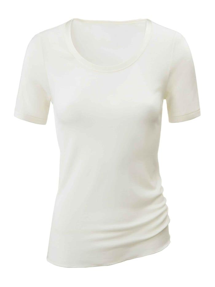 Kurzarm-Shirt aus Wolle-Seide Ökotex zertifiziert