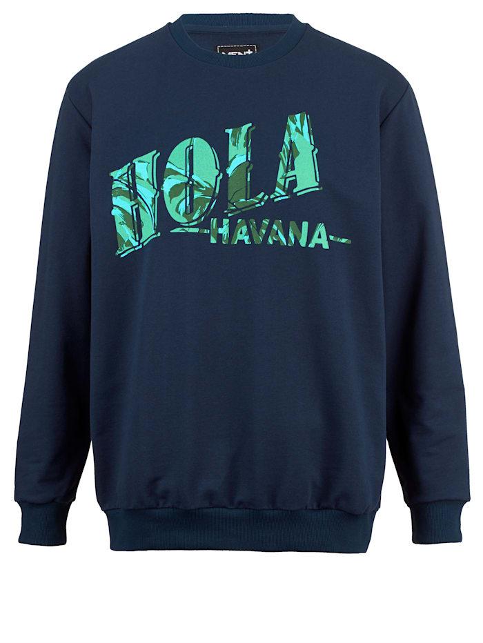 Men Plus Sweatshirt i skönt material, Marinblå