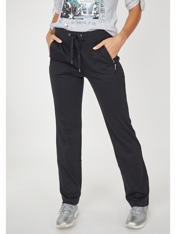 Hajo Exklusive Home- & Sportswear-Hose, SCHWARZ