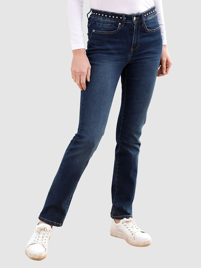 Dress In Jeans in Sabine Slim model, Dark blue