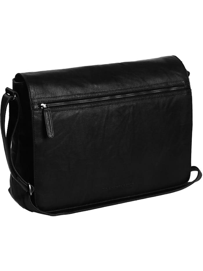 The Chesterfield Brand Marley Umhängetasche Leder 40 cm Laptopfach, schwarz