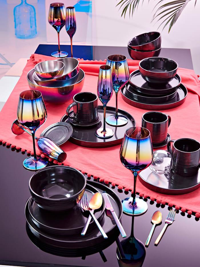 IMPRESSIONEN living Dessertteller-Set, 4-tlg., dunkelgrau