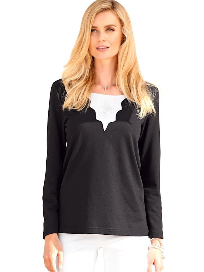 Sweatshirt Met geschulpte zoom aan de hals