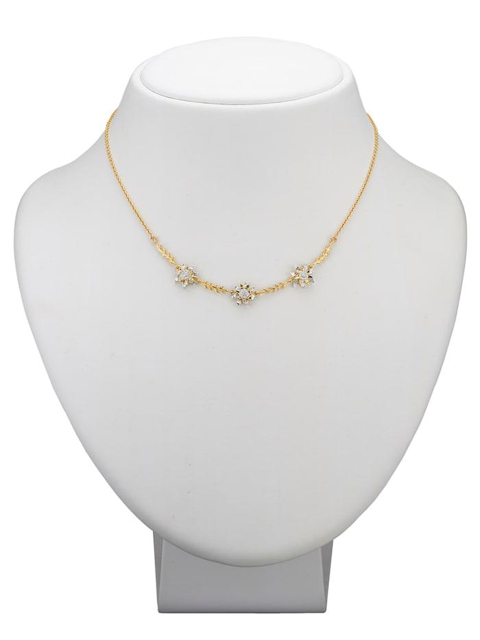 Ursula Christ Collier Kaiserin Sissi mit Diamanten, Gelbgoldfarben/Weiß