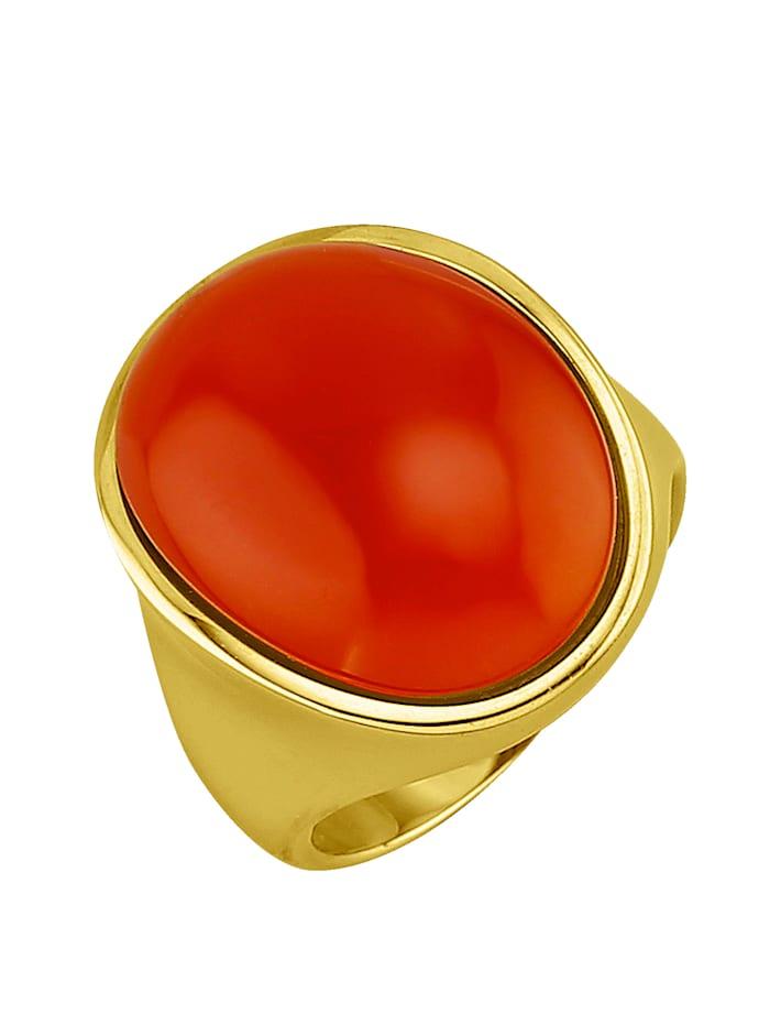 KLiNGEL Damenring mit Karneol, Orange