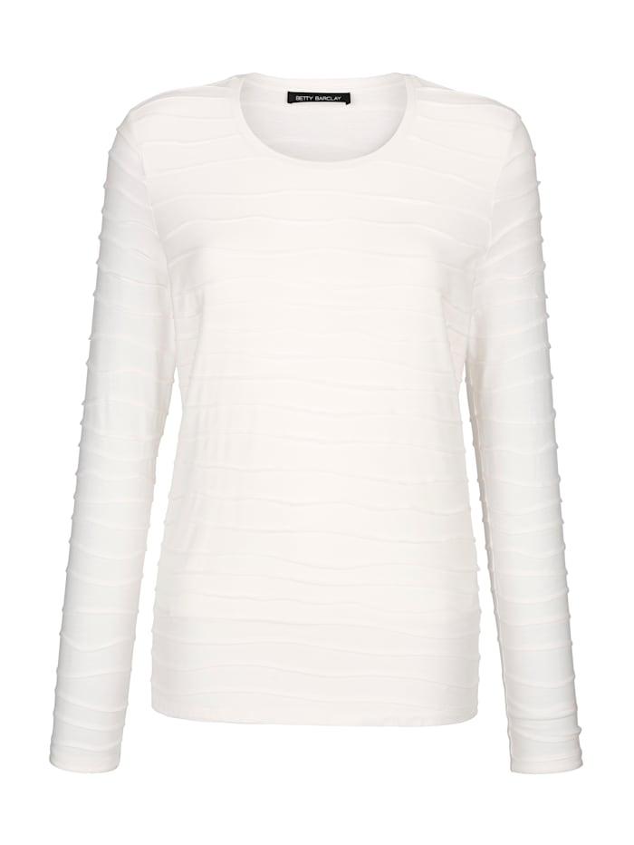 Betty Barclay Shirt mit wellenförmigen Biesen allover, Off-white