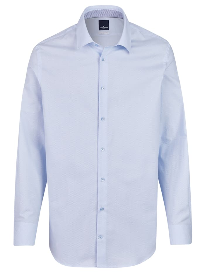 Daniel Hechter Business-Hemd Langarm mit grafischem Muster, light blue