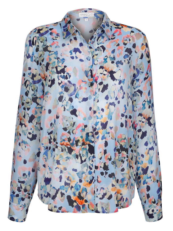 Blouse with abstract spot print
