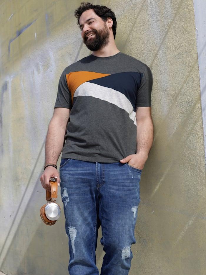 T-shirt med färgblock