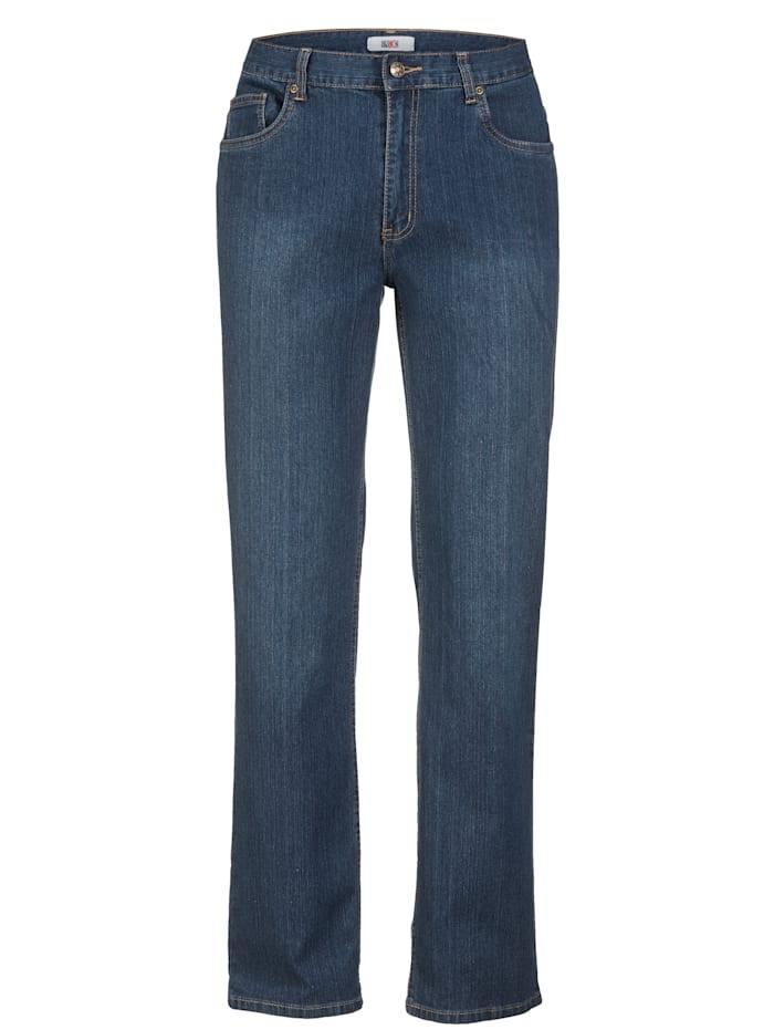 Roger Kent Jean coupe 5 poches avec élasthanne, Blue stone