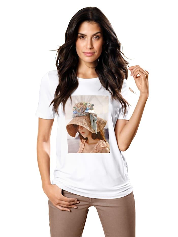 AMY VERMONT Shirt met print en pailletten, Wit
