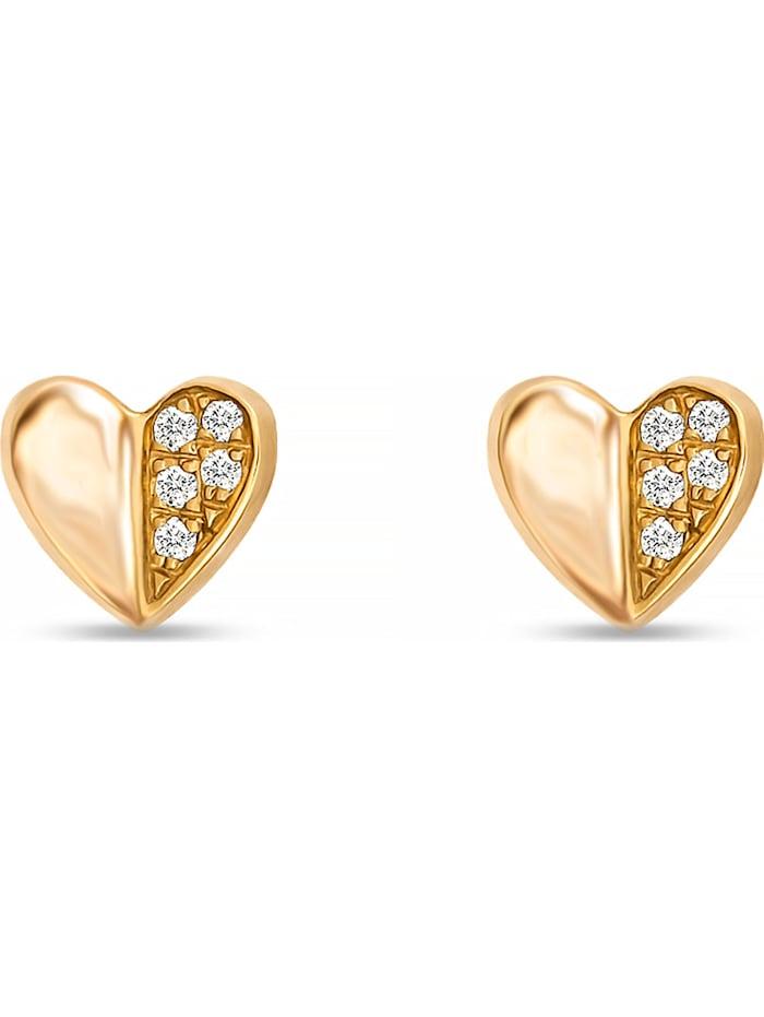 CHRIST C-Collection CHRIST Damen-Ohrstecker 10 Diamant, gelbgold