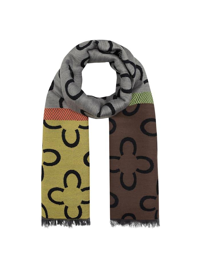 Codello Logo-Schal mit Baumwolle und Wolle, brown