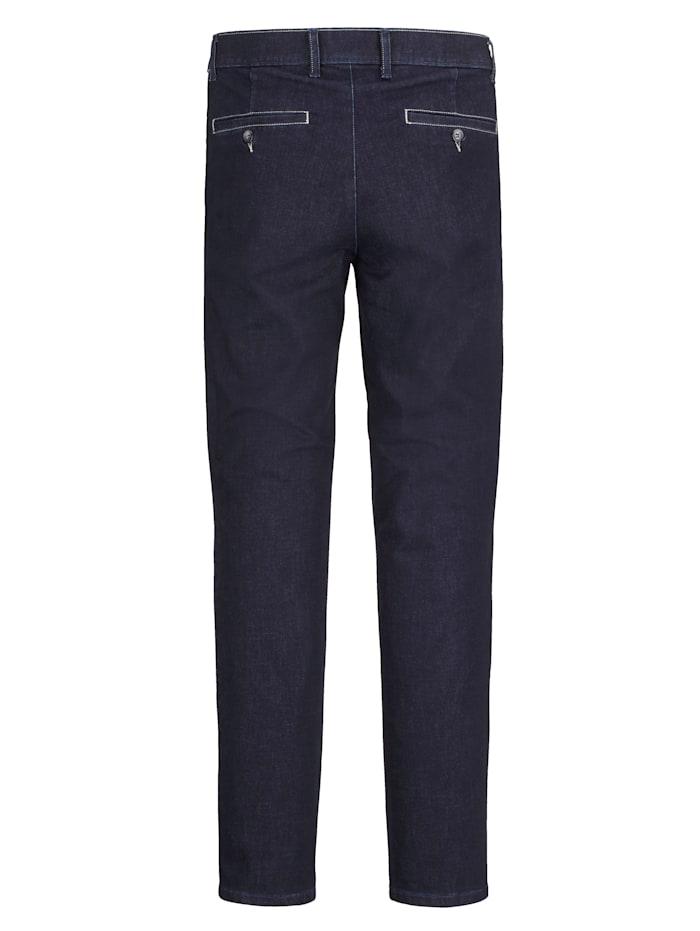 Džínsy s kontrastným šitím