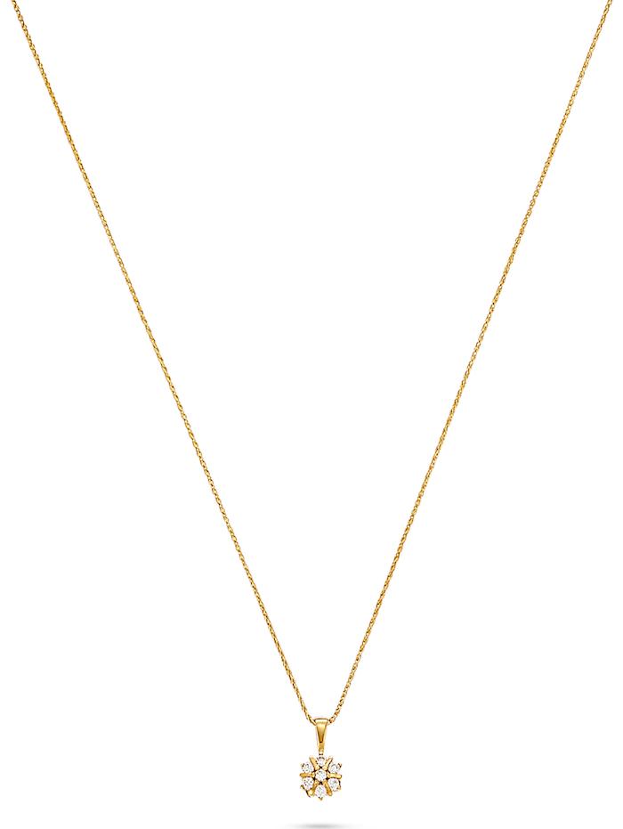 CHRIST Diamonds CHRIST Damen-Kette 7 Diamant, gelbgold