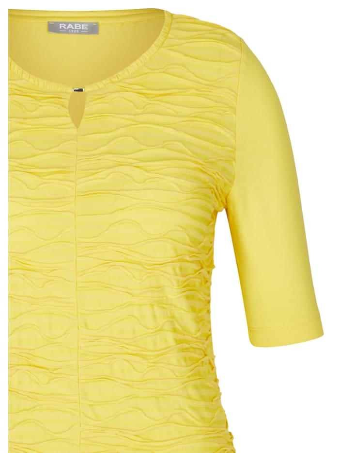 Shirt mit unifarbenem Stoff und halblangen Ärmel