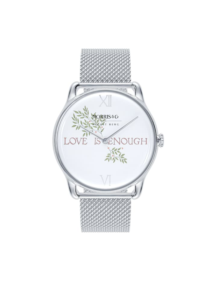 August Berg Uhr MORRIS & CO Silver Love is Enough Mesh 38mm, pure