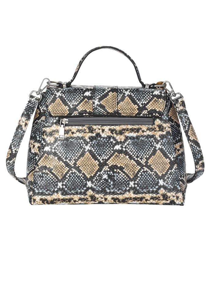 Handbag in an on-trend snake print