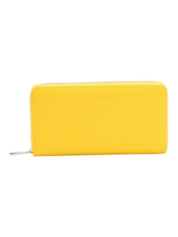 L.Credi Brieftasche Graziella, lemon
