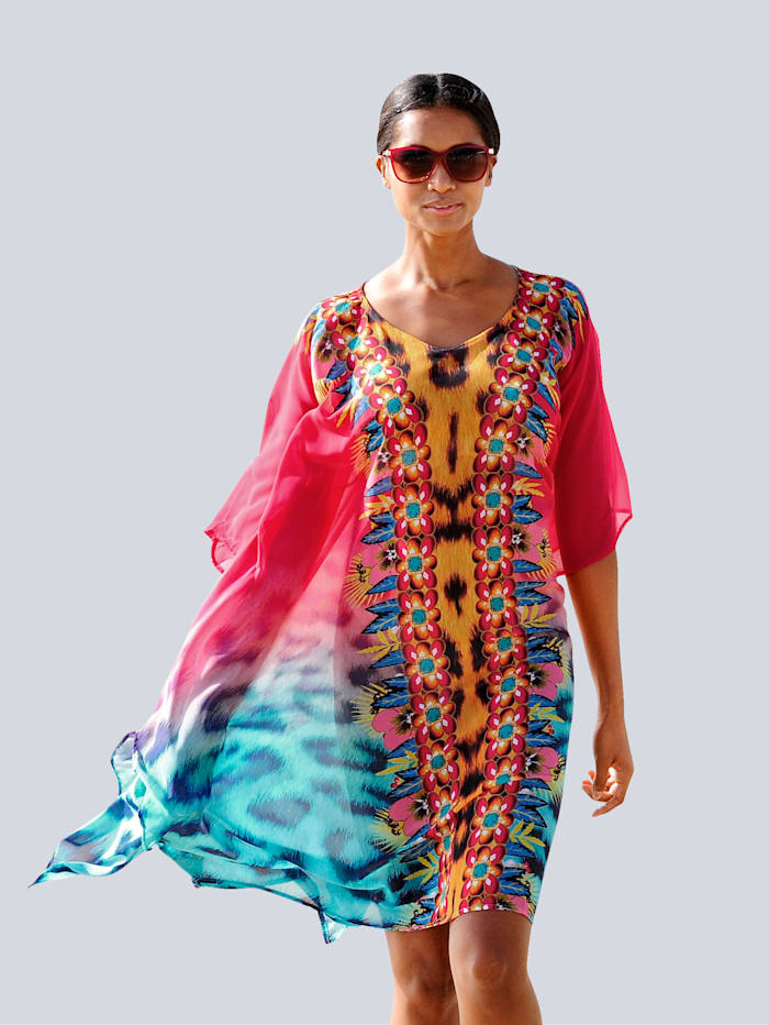 Sunflair Strandkaftan in bequemer Form, Rot-Bunt