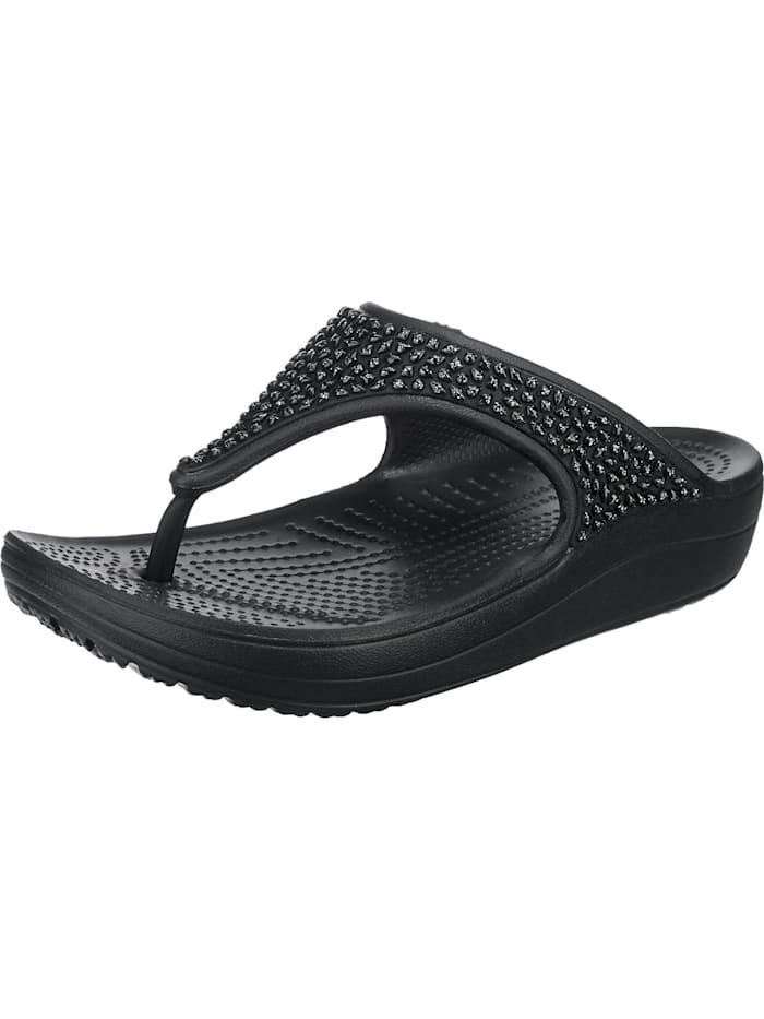 Crocs Crocs Sloane Embellished Flip Zehentrenner, schwarz