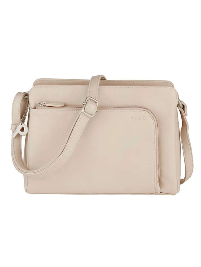 Picard Shoulder bag with zipped compartments, Beige